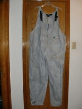 Mens Frogg Toggs Outerwear Silver/Gray Bib Overalls & Hooded Jacket Large