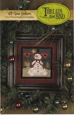 Snow Drifters 673 Snowman Punchneedle Punch Needle Threads That Bind Pattern