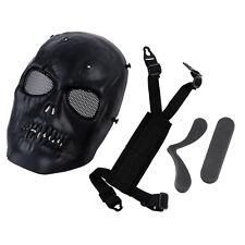Airsoft Mask Skull Full Protective Mask Military Black SZHKUS