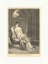 Julie Recamier Holzstich Gherard Sessel Vorhang Säulen Dame Kleind Füß E 1940