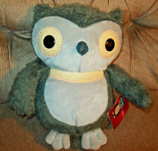 Kohls Cares for Kids HOOTY OWL Aesop's Fables 10in Fuzzy Grey & Tan Plush ECWT