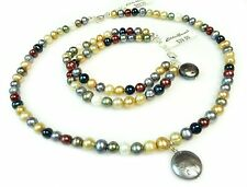 Eddie Bauer Jewelry Set Beaded Strand Choker Necklace Bracelet Multicolor New
