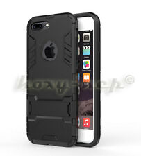 Apple iPhone 7 Plus Iron Man Amor Shockproof Hybrid Cover Phone Case (Black)