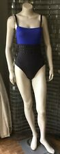 ERES blue bicolour one piece swimsuit, size UK 12/FR 40/US 8