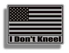 I Don't Kneel Subdued USA American Flag Sticker Vinyl Decal Car Truck Cup Laptop
