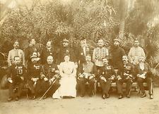 Tunisie, les Générales en 1903 Vintage albumen print Tirage argentique