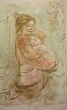 Juliet and Baby Richards Proof  Lithograph  Edna Hibel