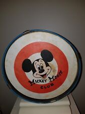 Vintage Mickey Mouse Club Toy Drum Noble & Cooley Metal-Paper Walt Disney Prod