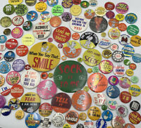 Vintage 1970S Pinback Button Humor Funny Lot Of 110 Vintage Original 20-1729