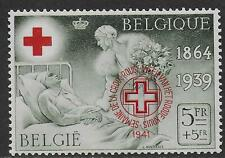 Belgium stamps 1941 OBP PR44A MNH VF RED CROSS