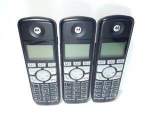 Lot of 3 Motorola K703B Dect 6.0 Cordless Phones - No Batteries / Chargers