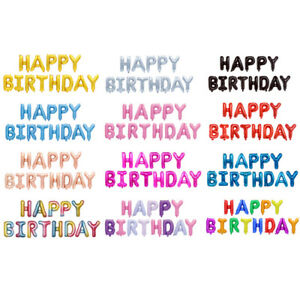 17 Colours - Happy Birthday Banner Balloons  - Bunting Party Decoration