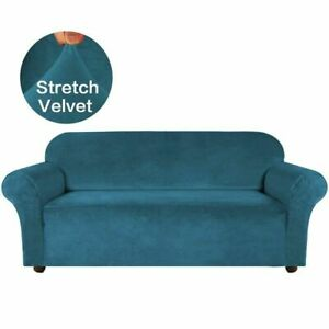 Velvet Stretch Cover Couch Slipcover Furniture Protector Case Sofa Cover Elastic