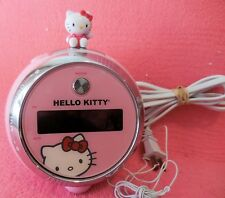 Hello Kitty Pink Projection Alarm Clock AM/FM Radio Sanrio Co. LTD (VGUC)