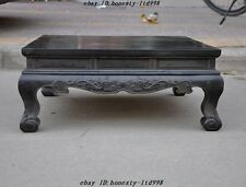 Chinese dynasty Rosewood wood carving double dragon Bead statue Furniture tables