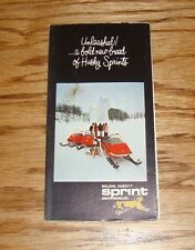 Original 1970s Bolens Husky Sprint Snowmobile Full Line Foldout Sales Brochure