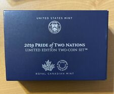 2019 W Enhanced Reverse Proof Pride Of Two Nations Limited Edition Box And Coa