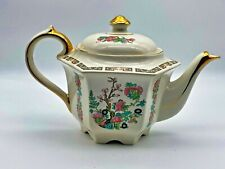 Vintage Art Deco Porcelain Sadler Indian Tree Teapot small chip at the base 1930