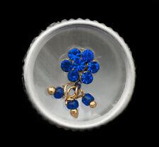 Bindi fleur strass bleu bijoux de peau front ht de gamme 13mm  ING F 2399