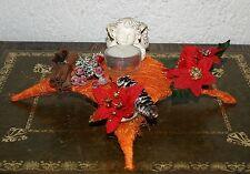 Weihnachten Dekoration Sisalraute orange 20 x 20 cm Engel Teelicht Utensilien