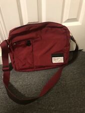 "Diesel Messenger Shoulder Crossbody Bag ~14"" laptop unisex Red"