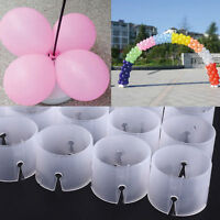 10/30pcs Balloon Arch Stand Connectors Clip Ring Buckle Wedding Birthday Decor