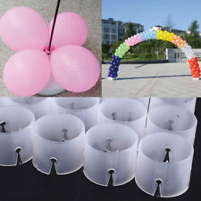 50pcs Balloon Arch Stand Connectors Clip Ring Buckle Wedding Birthday Decor USA