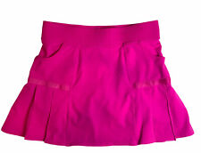 Athleta Medium Any Sport Skirt Skort Tennis Golf Running Pleated Fuchsia Pink