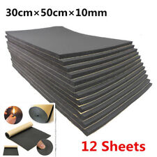 12x 10mm Car Sound Proofing Deadening Noise Reduction & thermal insulation Foam