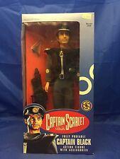 """Captain Black Scarlet 12"""" 1:6 figure MIB Vivid Imaginations Gerry Anderson"""