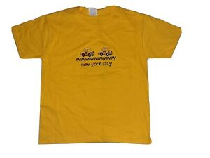 NWOT New York CIty Taxi Embroidered Yellow t-shirt Kids Size M tourist tee