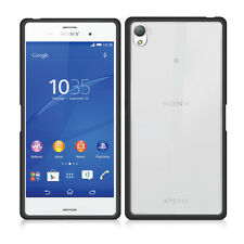 Sony Xperia Z3 Fusion Bumper Case Cover - Black & Clear by Orzly