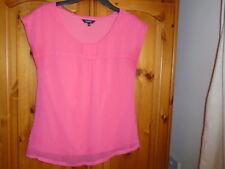 Salmon pink floaty scoop neck sleeveless top, fully lined, PAPAYA, size 10