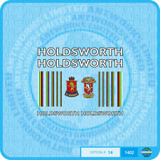 Holdsworth - Bicycle Decals Transfers Stickers - White With Gold Key - Set 14