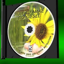 CREATE OWN BIO DIESEL FUEL FROM WASTE COOKING FAT/OIL CD-ROM save £'s Fuel NEW