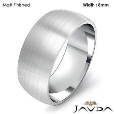 Solid Platinum Plain Dome Mens Wedding Band High Polish Ring 8mm 13.6gm 11-11.75