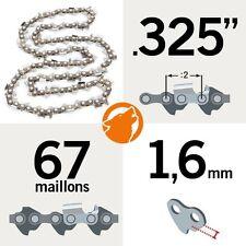 """Chaîne tronçonneuse KERWOOD 67 maillons 0.325"""", 1,6mm"""
