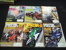 1991 MOTOR CYCLIST MAGAZINE LOT OF 9 ISSUES - GREAT BIKES NICE COVERS - M 238