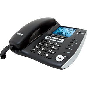 FP1200 Corded Phone With LCD Display & Caller Id Uniden Real-Time Clock Feature