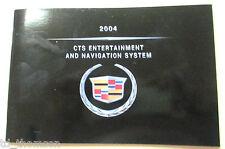 GM 2004 Cadillac CTS Navigation Manual #25758902A