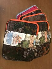 "REALTREE 10"" Tablet Sleeve Camo Orange Soft Neoprene Foam Cover Case NEW ipad"