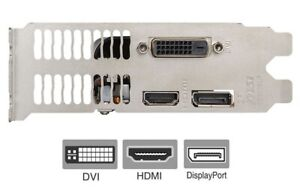 GTX 1050 Full Height Bracket for Video Graphics Card DVI HDMI DisplayPort