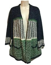 STEFAN GREEN Womens UK 14/16 Designer Lagenlook Cardigan Layering Spring Boho