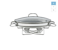 NEW 2.5 Qt Buffet Server Slower Cooker Pot 1 Stainless Steel Food Warmer Tray