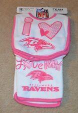 Baltimore Ravens 3-Piece Bib & Burpcloth Set Baby Gerber  NFL