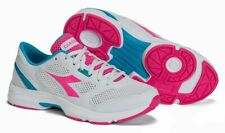 NWOB DIADORA Donna Shape 7 White/Pink/Blue Athletic Running Sneakers Women's 7
