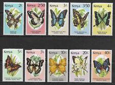KENYA , 1988/90 , BUTTERFLIES , SET OF 10 STAMPS , PERF , MNH , CV$18.75