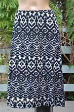 Autograph Stretch Geometric Print B & W Skirt Size 16 Comfy Waist