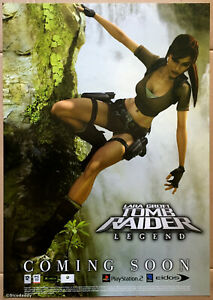 """Tomb Raider Legend """"Coming Soon"""" Promotional Poster, Very Rare & Brand New"""