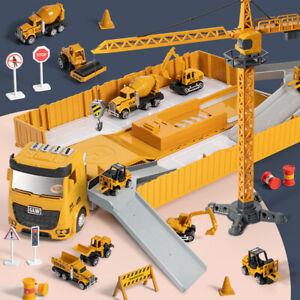 Construction Toys Truck Car Set Engineering Truck Playset Bulldozer Steamroller